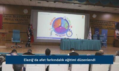 Elazığ'da afet farkındalık eğitimi düzenlendi