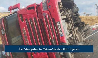 İran'dan gelen tır Tatvan'da devrildi: 1 yaralı
