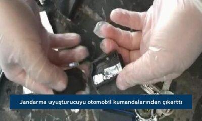 Jandarma uyuşturucuyu otomobil kumandalarından çıkarttı