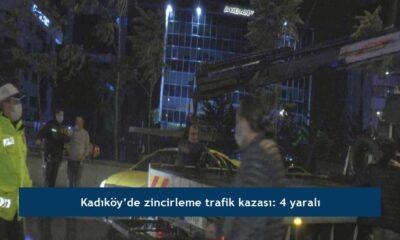 Kadıköy'de zincirleme trafik kazası: 4 yaralı