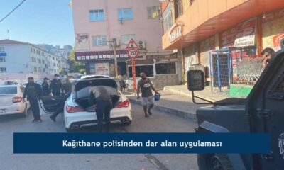 Kağıthane polisinden dar alan uygulaması