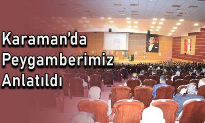 Karaman'da Peygamberimiz anlatıldı