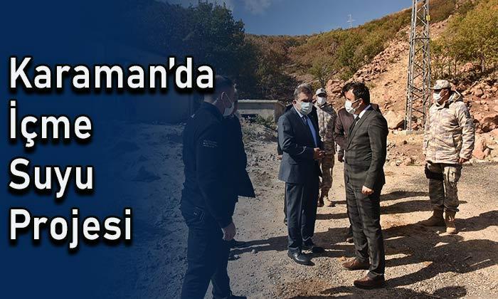 Karaman'da içme suyu projesi