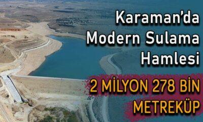 Karaman'da 2 milyon metreküp su depolanacak