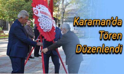 Karaman'da tören düzenlendi