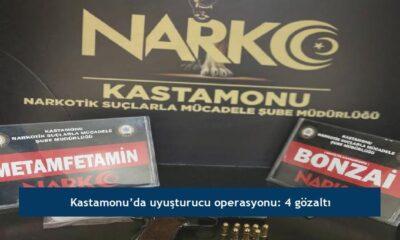 Kastamonu'da uyuşturucu operasyonu: 4 gözaltı