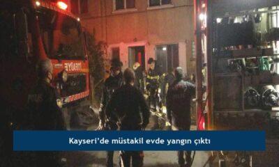 Kayseri'de müstakil evde yangın çıktı