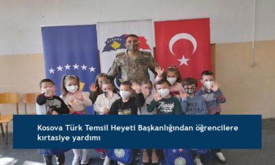 Kosova Türk Temsil Heyeti Başkanlığından öğrencilere kırtasiye yardımı