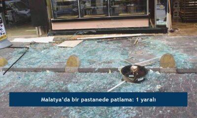 Malatya'da bir pastanede patlama: 1 yaralı