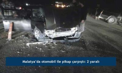 Malatya'da otomobil ile pikap çarpıştı: 2 yaralı