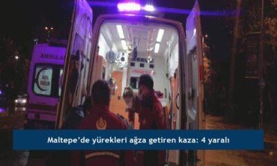 Maltepe'de yürekleri ağza getiren kaza: 4 yaralı