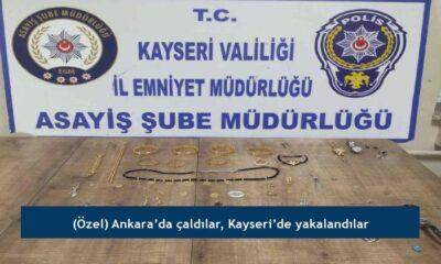 (Özel) Ankara'da çaldılar, Kayseri'de yakalandılar