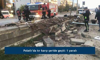 Polatlı'da tır karşı şeride geçti: 1 yaralı