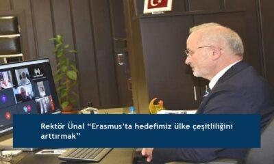 """Rektör Ünal """"Erasmus'ta hedefimiz ülke çeşitliliğini arttırmak"""""""
