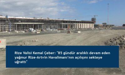 """Rize Valisi Kemal Çeber: """"85 gündür aralıklı devam eden yağmur Rize-Artvin Havalimanı'nın açılışını sekteye uğrattı"""""""