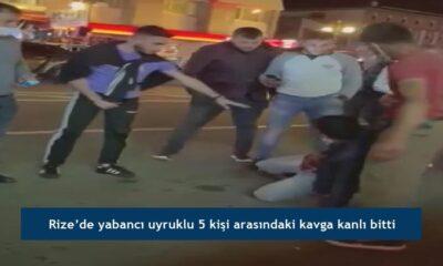 Rize'de yabancı uyruklu 5 kişi arasındaki kavga kanlı bitti