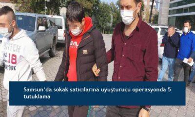 Samsun'da sokak satıcılarına uyuşturucu operasyonda 5 tutuklama