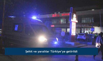 Şehit ve yaralılar Türkiye'ye getirildi