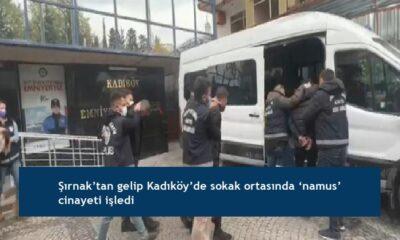 Şırnak'tan gelip Kadıköy'de sokak ortasında 'namus' cinayeti işledi