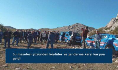 Su meselesi yüzünden köylüler ve jandarma karşı karşıya geldi