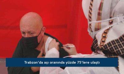 Trabzon'da aşı oranında yüzde 75'lere ulaştı