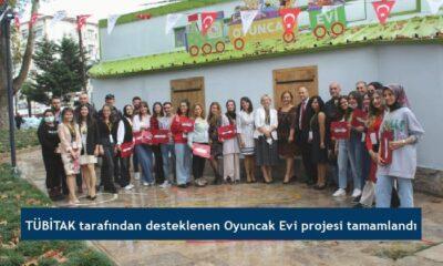 TÜBİTAK tarafından desteklenen Oyuncak Evi projesi tamamlandı
