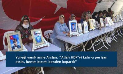 """Yüreği yanık anne Arslan: """"Allah HDP'yi kahr-u perişan etsin, benim kızımı benden kopardı"""""""