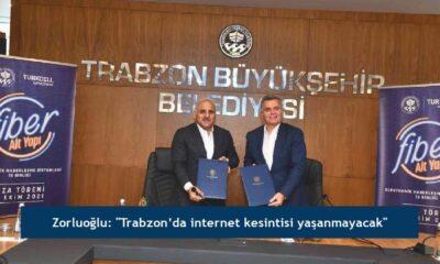 """Zorluoğlu: """"Trabzon'da internet kesintisi yaşanmayacak"""""""